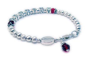 IN MEMORY Bracelets with IN MEMORY Bead and Name