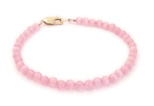 Pink and Gold Ribbon bracelet