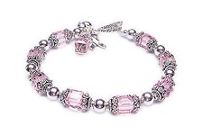 Large Pink Breast Cancer Bracelet