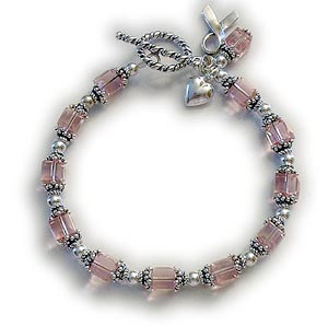 sterling silver cancer bracelets