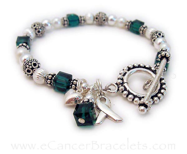 Liver Cancer and Organ Donor Bracelet - Green Ribbon Bracelet