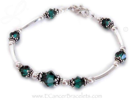 Green Donor Bracelet with Ribbon Charm