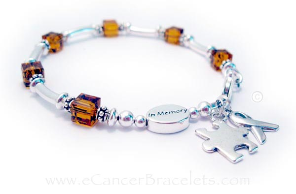 Leukemia or Orange Ribbon In Memory Bracelet