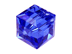 Colon Cancer Awareness Square or Cube Swarovski Crystals for a Blue Ribbon Bracelet