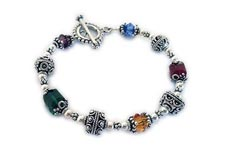 Large Bali Bracelet for Multiple Cancer Awareness