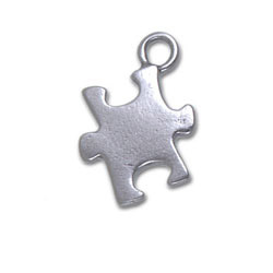 Puzzle Piece Charm Earrings