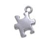 Autism puzzle piece necklace in sterling silver
