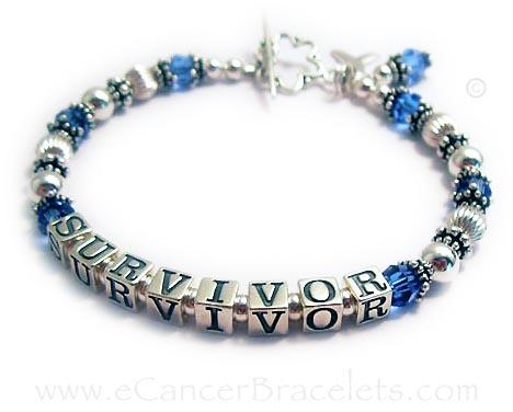 Colon Cancer Survivor  Blue Ribbon Bracelet