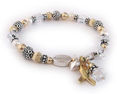 Lung Cancer Ribbon Bracelet
