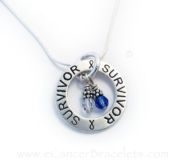 Colon Cancer and Lung Cancer Survivor Necklace