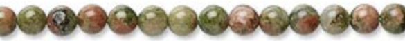Unakite is said to cleanse and balance our bodies and used as a fertility aid.