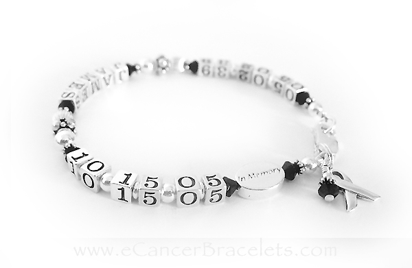 CBB-LIFETIME/sterling This life time bracelet is shown with JAMES and black crystals... Everything shown is included in the price.