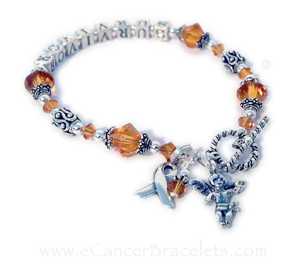 Leukemia Survivor Ribbon Bracelet