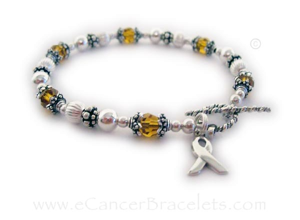 Orange Ribbon Leukemia Ribbon Bracelet