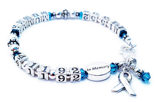 Life time bracelet with dates of birth and death - IN MEMORY bracelet