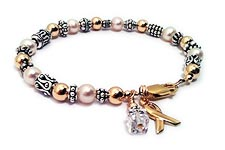 Pearl and Bali Cancer Survivor Bracelet