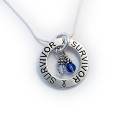 Survivor Necklace with Cancer Charms