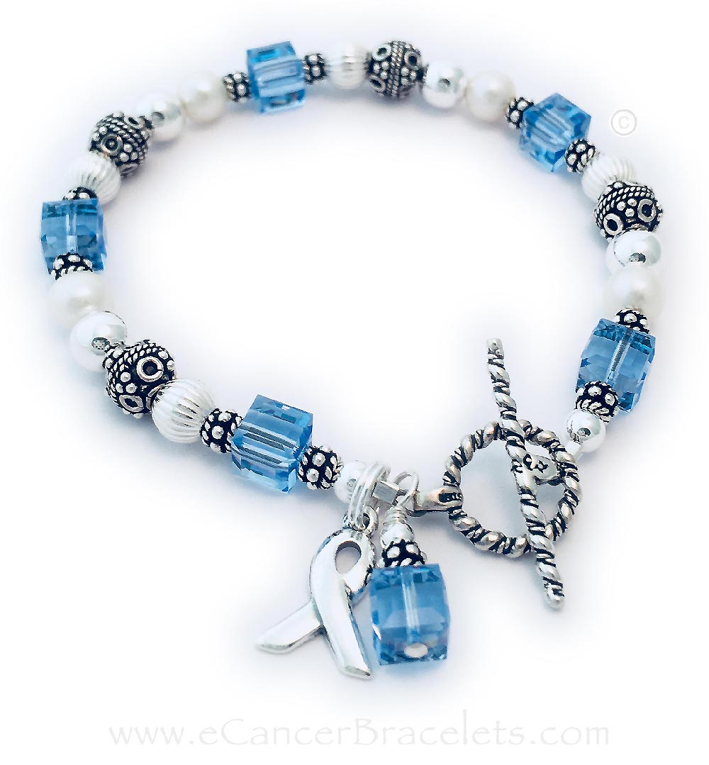 This bracelet comes with the ribbon charm and crystal dangle charm. They picked one of my free Twisted Toggle clasps.